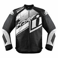 Icon White/Black Mens Hypersport Prime Hero Motorcycle Jacket