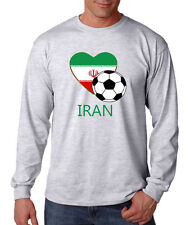 Persian Soccer Iran Futbol Football Unisex Cotton Long Sleeve T-Shirt Tee Top