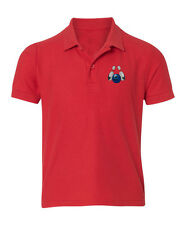 Bowling Sport Embroidered Kid Children Youth Polo Shirt/XS-XL Youth Size