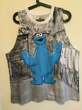 Sesame Street Cookie Monster Tank Top Shirt Graffiti City Jr Womens  XXL nwot