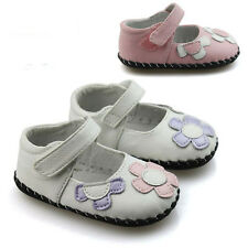 Toddler Baby girl Mary Jane leather shoes Soft Soles Crib Shoes Size 0-18 Months