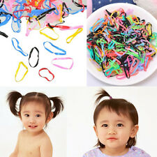 400pc Women baby Girl Rubber Hairband Rope Hair Band Ties Ponytail Holder Braids