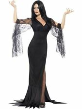 Ladies Morticia Immortal Soul Costume Witch Vampire Halloween Fancy Dress
