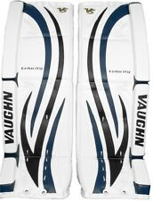 New Vaughn 7490i ice hockey goalie goal 27+1.5 leg pads intermediate black/blue