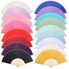 Chinese Bamboo Fan Folding Hand Fans for Outdoor Wedding Party Favors Decor Gift
