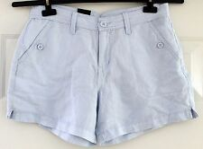 NEW Calvin Klein Jeans Light Blue Shorts For Women Size Variations Linen Blend