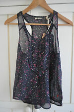JACK WILLS 'Avery Scatter Print Silk Cami Vest Top, UK 6-8, BNWT