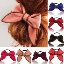 Satin Ribbon Hairband Scrunchie Ponytail Hair Rope Hair Accessories Bow Holder