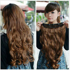 Fashion One Piece Clip in Synthetic Hair Extensions Long Straight/Curly 5 Clips