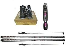 New Whitewoods Adult NNN Cross Country Package Skis Boots Bindings Poles 157cm