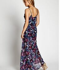 New Guess Women's Eppie Sleeveless Woven Maxi Allover Floral Print Dress