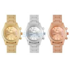 Fashion Ladies Women Mens Unisex Stainless Steel Analog Quartz Wrist Watch