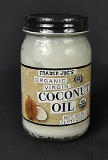Trader Joe's Joes Organic Unrefined Virgin Coconut Oil Jar 16 FL OZ