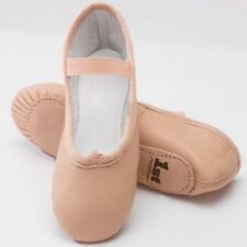 1st Position Pink Leather Ballet Dance Shoes - Girls & Adults Sizes