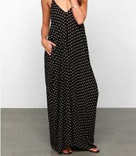 Beach Dress Evening Party Sexy Summer Chiffon Polka Dot Women Boho Long Maxi