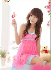 Sexy Lingerie Women Polyester Robe Dress Babydoll Nightdress Nightgown Sleepwear