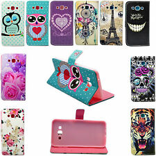 Fashion Flip Magnetic Leather Card Wallet Slots Case Cover For Samsung Galaxy A8