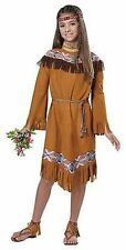 CHILD CLASSIC INDIAN GIRL NATIVE AMERICAN POCAHONTAS HALLOWEEN COSTUME 00497