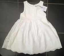 ••• ВNWT Girls' Party Outfit • White Tessa Lace Dress • 100% Cotton • 4 Years