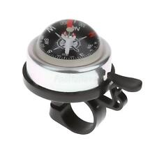 New 3 Color Alloy & Plasitc Bicycle Safety Bicycle Bike Ring Alarm Bell Compass