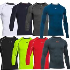 Under Armour Mens Heatgear Armour Compression Shirt Longsleeve Baselayer 2017