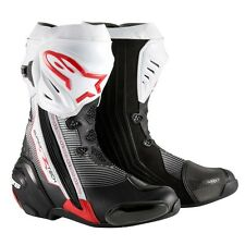 Alpinestars Supertech R Road Race Motorcycle Boots-Euro Sizes-Black/Red/White