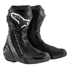 Alpinestars Supertech R Road Race Track Motorcycle Boots-Euro Sizes-Black