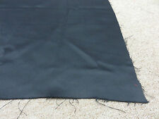 Jet black soft lined blackout material remnant crafts fabric piece 160x75cm