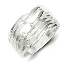 Sterling Silver Solid Fancy Ring 7.20 gr Size 6 to 8
