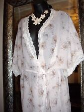 QUALITY SIZE 12-14 CREAM  FLORAL LACE KIMONO WRAP BNWT NEW IN  RRP £35!