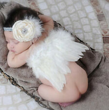 Costume White Newborn Prop Outfits Girls Boys Angel Wings Baby Photo Photography