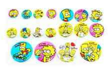 The Simpsons Family Bart Homer Maggie Lisa Pin Button Badge Circle Nice Toy Cute