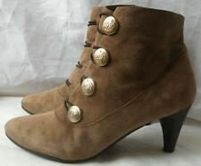 Vintage Retro Clarks victorian style soft suede ankle boots UK 6
