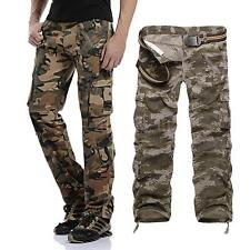 Mens Cargo Military Army Pants Slim Camouflage Trousers Camo Trousers Work B5B6