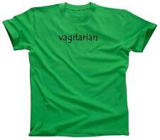 VAGITARIAN Funny College Party Tee Rude Humor Lesbian - T-Shirt - NEW - Green