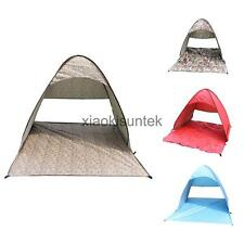 1-3 Person INSTANT POPUP CAMPING FISHING ANTI-UV FAMILY TENT Beach Shade Shelter