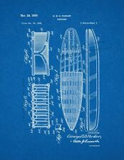 Surfboard Patent Print Blueprint