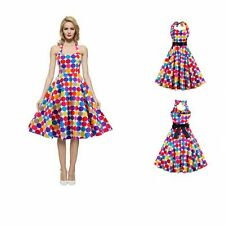 Vintage Polka Dot Swing 50s 60s Pin up Housewife Rockabilly Cocktail Party Dress