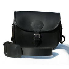 REAL LEATHER CARTRIDGE BAG SHOOTING IN BLACK COLOR