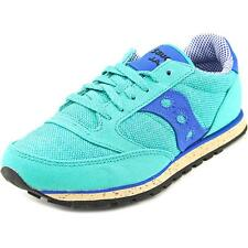 Saucony Jazz Low Pro  Women  Round Toe Canvas Blue Running Shoe