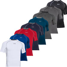 2016 Under Armour Mens HeatGear Armour Compression Short Sleeve Shirt Baselayer