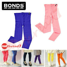 BONDS Girls 40 Denier Opaque Footless Tights Pantyhose Kids Pink Blue 11+ Years