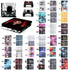 Various Skin Sticker For Playstation PS4 Console Controller Decal Wrap Cover Set