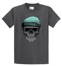 Skull Cap Mens Printed Biker Tee Shirts Reg to Big and Tall Size Port and Co