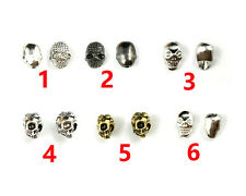 10 pcs skull spacer beads charm beads copper metal beads for jewelry making