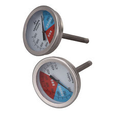 "2"" 475/550 RWB BBQ CHARCOAL GRILL WOOD SMOKER OVEN PIT TEMP GAUGE THERMOMETER #S"