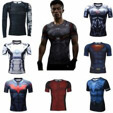 Marvel Superhero 3D Men's Compression Top T-shirts Gym Fitness Sports Shirts