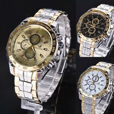 Sports Stainless Steel Men's Quartz Analog Wrist Watch Casual Dial Watches N98B