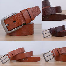 Fashion Men Casual Waistband Faux Leather Pin Buckle Belt Classic Waist Strap