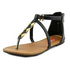 Josmo Sun Straps Sandal  Youth  Open Toe Leather Black Thong Sandal